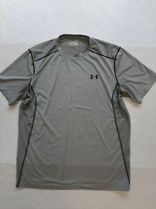 UNDER ARMOUR XL MENS SHIRT FITTED HEATGEAR GRAY COLOR S S #1 $20.00