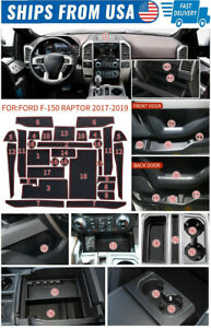 For Ford F 150 Accessories 2017 2020 Cup Holder Inserts Center Console Liner Mat $29.98