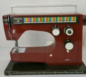 Viking Husqvarna 6460 Red Colormatic Sewing Machine with Pedal $599.95