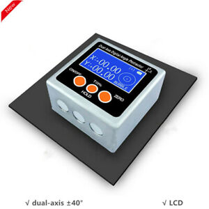 Dual Axis Digital Angle Protractor Inclinometer One Magnetic Side Metal Shell $45.10