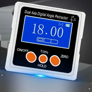 Digital Angle Protractor Dual Axis Inclinometer 3 Magnetic Sides Metal Shell $49.09