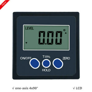 One Axis Digital Angle Protractor Inclinometer 4x90° One Magnetic Side $25.60