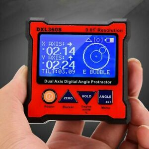 DXL360S Dual Axis Digital Angle Protractor Magnetic Inclinometer Angle Finder $93.79