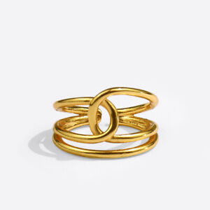 Fashion Jewelry Personality Gifts Creative Geometric Twisted Line Finger Rings $3.10