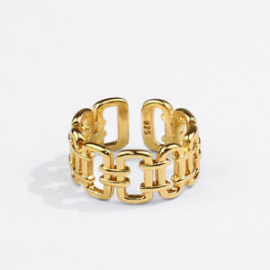 Fashion Trendy Jewelry Gifts Creative Hollow Out Geometric Opening Finger Rings $2.96