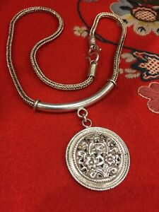 Scandinavian Design NORWEGIAN Silver Pendant Necklace FROM NORWAY