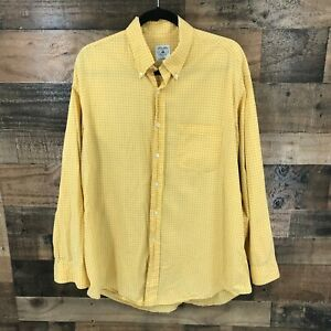 Brooks Brothers Mens Gold Sport Shirt Long Sleeve Button Up Size L $30.80