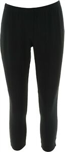 Women with Control Fitted Pull On Style Knit Leggings Solid Black PS NEW A235952