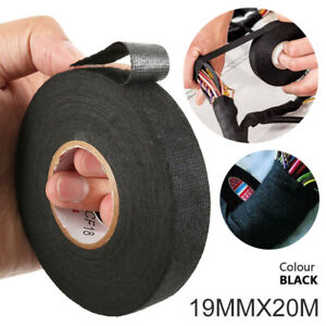 US 20M 19mm Adhesive Cloth Fabric Auto Car Tape Cable Wiring Loom Harness Tape #