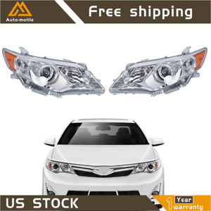 LeftRight Projector Headlights Headlamps Replacement For 2012 2014 Toyota Camry $124.49