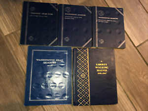 Vintage Coin Collection Holders Album Books Lot Of 5 EMPTY No Coins Whitman $14.00