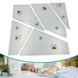 Quilting Rulers Sewing Patchwork Templates Transparent Cut Brand New $19.60