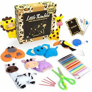 Kids Sewing Kit for Beginners Animal Safari Sewing Kit for Kids Ages 8 12 I... $28.05