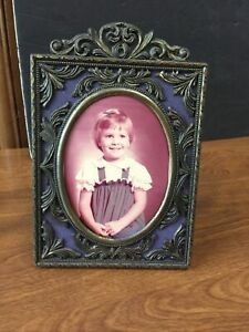Vintage Antique Brass Picture Frame Photo Ornate Made In Italy $29.00