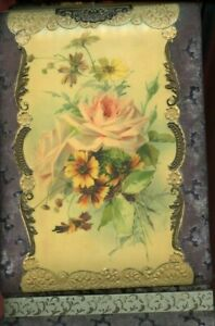Antique Stand Up Floral Cabinet Photo Album Very Nice Condition 12quot; x 8quot; $129.95