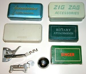 Large Collection SINGER GREIST Attachments Rotating Hooks Bobbin Holders $64.99