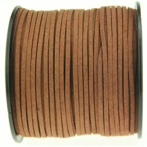 10Yards 3mm Suede Leather String Jewelry Bracelet Making DIY Thread Cord Brown $6.99