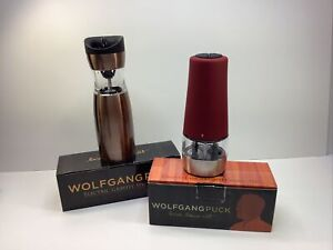 WolfGang Puck Electric Dual Salt and Pepper Gravity Spice Mill Never Used