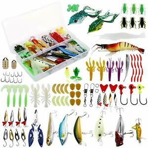 235PCS Soft Fishing Lures Set with Tackle Box Fishing Freshwater Saltwater Baits