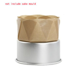 Wall Circle And Frilled Durable Cake Mold Nonstick Liner Baking Glass Fiber