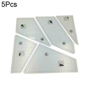 Quilting Rulers Sewing Patchwork Templates Transparent Cut New Brand G7F3 $11.95