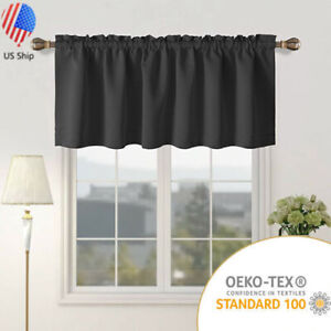 1 Panel Window Curtains Insulated Blackout Drape Short Panel for Kitchen 42×18