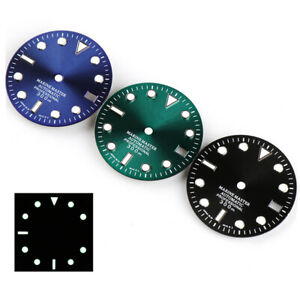 6 Colors 28.5mm Green Luminous Watch Dial Replacement For SKX007 NH35 Movement