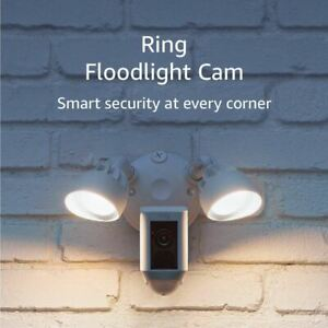 Ring Floodlight Camera Motion Activated HD Security Cam Two Way Talk and Siren A
