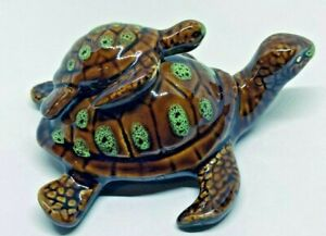Ceramic Sea Turtles Mother and Baby Figurine in Gift Box Fine Art $24.95