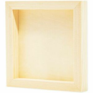 6 Pack 6quot;x6quot; Unfinished Square Wood Paint Pouring Panel Boards for Art Craft $17.99