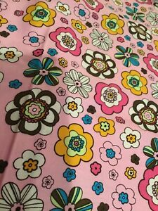 Pink fabric floral 1.75 yards 2007 Brother Sister