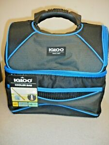 IGLOO COOLER BAG BLUE BLACK 16 CANS MAXIMUM NEW WITH TAGS