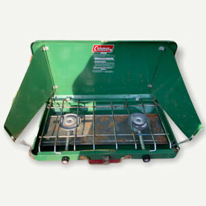 Coleman Two Burner Propane Camping Stove Model 5400 A 700 Tested Working