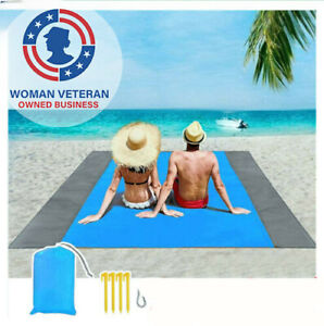 79 x 83 Oversized Beach Blankets Sand Proof Beach Picnic Mat Easy to Pack
