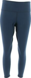 Women with Control Reversible No Side Seam Leggings Black Navy PXL NEW A384087