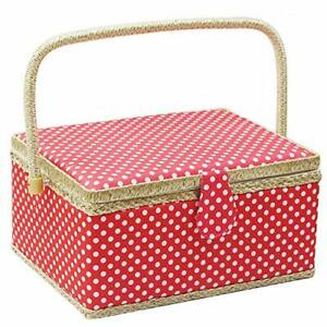 Large Sewing Basket with AccessoriesWooden Sewing Organizer Box for Sewing Su... $31.88