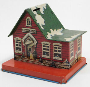 Used Vintage Lithograph School PS 23 Tin Bank $24.99
