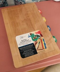 Bamboo Cutting Board 5 Pc With Flexable Cutting Mats By Mainstays 9x14x 1