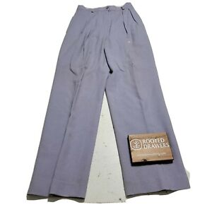 Vintage JH Collectibles Womens Purple Pure Wool Career Dress Pants Size 4 $22.79