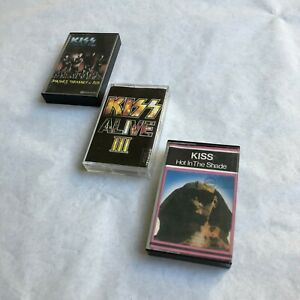 Kiss Cassette Tape Lot Uruguay Hot in the Shade Alive 3 Smashes Thrashes hits