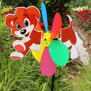 Plastic Windmill Pinwheel Wind Spinners Lawn Garden Party Decor Kids Toy Gift