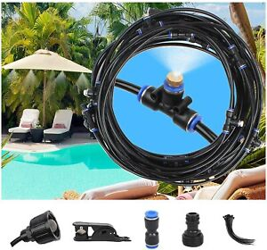 20 50FT Outdoor Patio Water Mister Mist Nozzle Misting Cooling System Fan Cooler