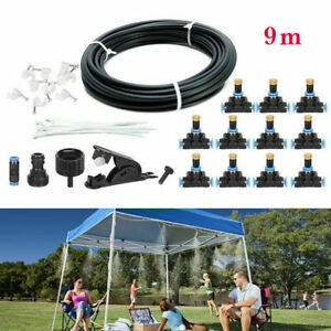 30FT Outdoor Patio Water Mister Mist Nozzle Misting Cooling System Fan Cooler