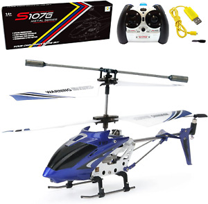 Phantom 3CH 3.5 Channel Mini RC Helicopter With Gyro Blue Remote Control