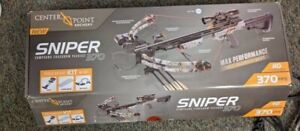 CenterPoint Sniper 370 Crossbow Adjustable Stock Package Camouflage with Scope