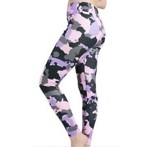 Women Stretchy Fitness Excercise Pink Camouflage Leggings Ladies