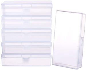 Plastic Box Clear Storage Case Collection Organizer Container 6 Pack $29.19