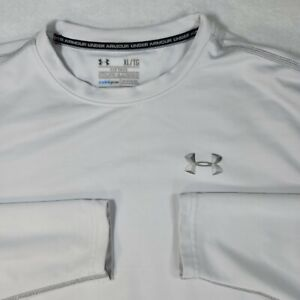 Under Armour Cold Gear Long Sleeve Fitted Mens Shirt Gray Size XL $18.99