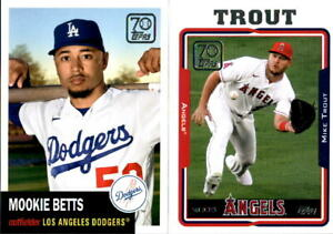2021 Topps Series 2 70 Years of Topps Inserts w RC You Pick From A List