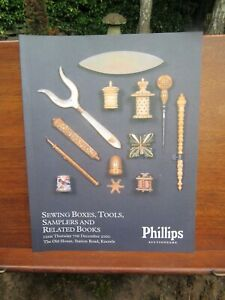 Phillips Sewing Boxes Tools Samplers Auction Catalogue Dec 2000 Mint Unused GBP 9.99